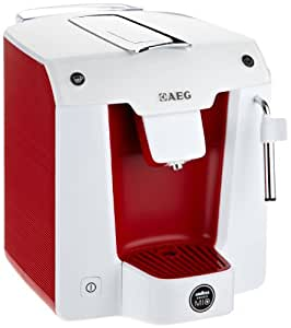 Lavazza A Modo Mio - AEG Favola LM 5100RE - Cafetera de monodosis, color rojo y blanco