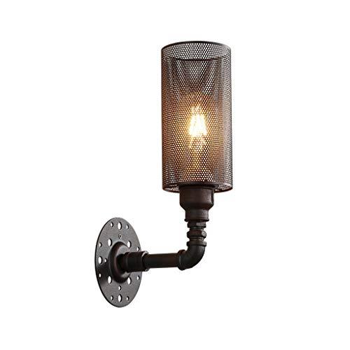 Wall Lamp Iron Art Net Wall Sconce Single Head Wall Light Industrial Wind Farmhouse Living Room Aisle Bar Cafe ()