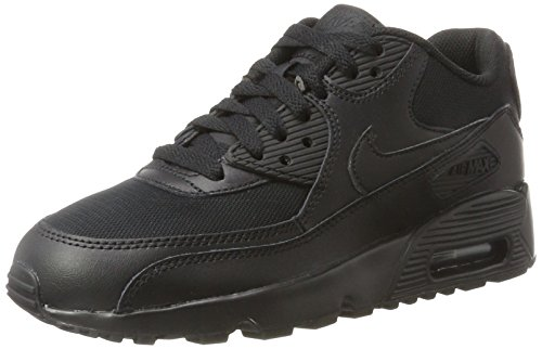 Nike Air Max 90 Mesh (GS) Triple Black (833418-001) (6 M US Big Kid) by NIKE