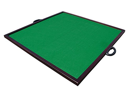 32 Universal 19 pounds Folding Table Board - Slip Resistant Poker / Dominoes / Card / Paigow / Mahjong Game Board Table Top Mat Poker Table Cloth Plain Green (MJT0005) Tabletop ~ We Pay Your Sales Tax