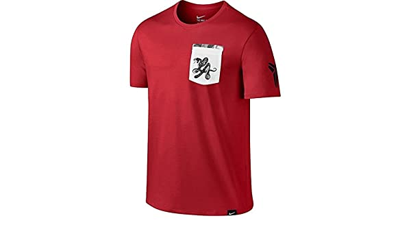 ce187ac7b Amazon.com: Nike Men's Kobe LA Black Mamba Pocket T-Shirt Red/White - Small:  Clothing