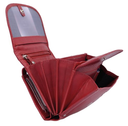 Portafoglio Donna LEAS, Vera Pelle, rosso - ''LEAS Ladies-Collection''