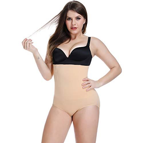Women Tummy Control Panties Knickers Underwear High Waist Body Shaper Shapewear Seamless Butt Lifter (Nude, Medium)