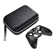 XCSOURCE Protective Hard Carry Case Travel Bag Storage Pouch + Controller Silicone Skin Cover Case for Xbox One Controller AC801