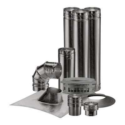 Direct Vent Gas Fireplace Pipe (DuraVent Vent Unit Heater Kit - 4in. Vertical, Model# 0371)