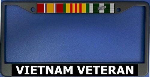 Vietnam Veteran Black License Plate Frame