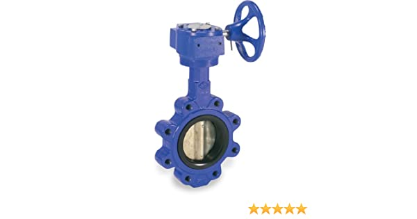 Nickel Plated Ductile Iron Disc Smith-Cooper International 160 Series Iron Butterfly Valve Gear Operator Buna-N Seat Lug Style 5
