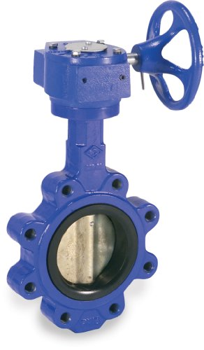 Smith-Cooper International 160 Series Iron Butterfly valve, Lug Style, Stainless Steel 316 Disc, EPDM Seat, Gear Operator, 2""