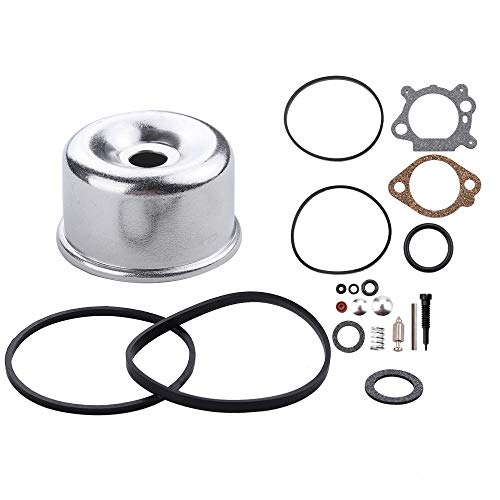 Dxent 498260 Carburetor Overhaul Kit 796611 Float Bowl for Briggs and Stratton 492495 493762 490937 398183 498261 493640 398191 3.5HP 4HP Max Series Quantum 5HP Industrial Plus Enngine Lawn Mower (Briggs & Stratton 498260 Carburetor Overhaul Kit)
