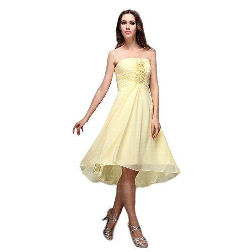 Abend Ital Festamo Damen Für Gelb Kleid bei Design Aq4n4zFxw