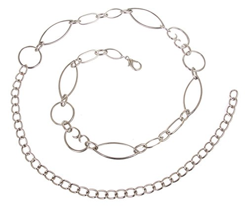 Ladies Metal Chain Belt (Ladies Metal Oval Circle Chain Belt Size: O/S - 42 End To End Color:)