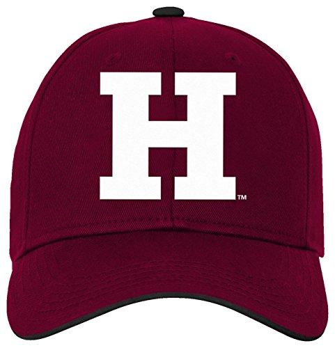 NCAA Harvard Crimson Kids & Youth Boys Basic Structured Adjustable Hat, Maroon, Youth One (Maroon Kids Hat)