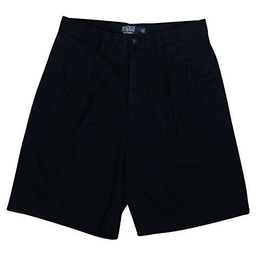 Polo Ralph Lauren Mens Pleated Tyler Chino Shorts - 30 - Navy