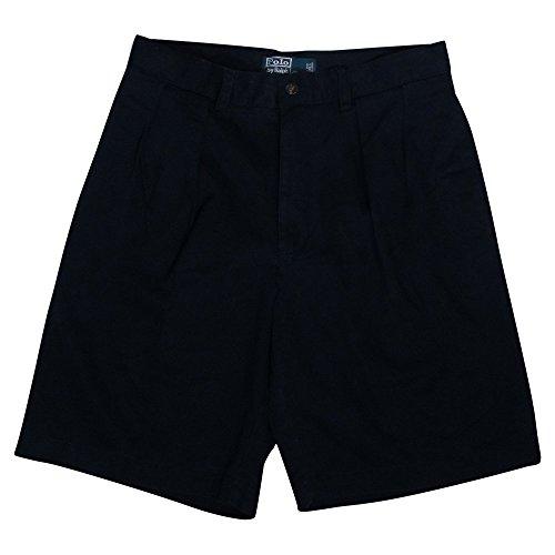 (Polo Ralph Lauren Mens Pleated Tyler Chino Shorts - 30 - Navy)