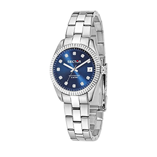SECTOR Women's 240 Analog-Quartz Sport Watch with Stainless-Steel Strap, Silver, 18 (Model: R3253579525