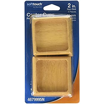 Amazon Com Soft Touch Wood Furniture Caster Cups With Non