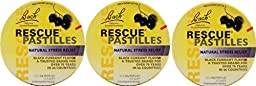 Nelson Bach - Rescue Pastilles Black Currant, 1.7 oz (3 Pack)