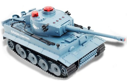 Infrared Battle Tank Radio Remote Control Tank w/Sound (Grey) ()