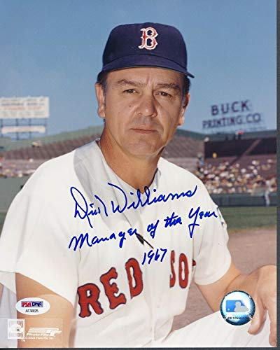 Dick Williams Red Sox Autographed Signed Memorabilia 8x10 Photo Autograph Auto - PSA/DNA Authentic