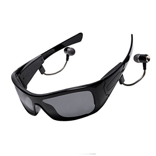 Forestfish Black Wireless Sunglasses with Removable Mic R...