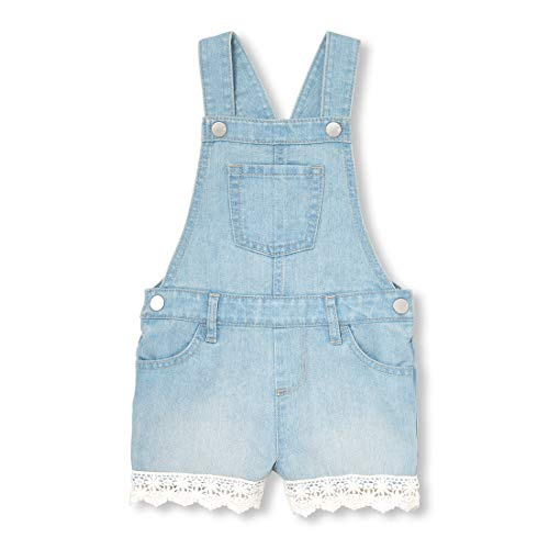 The Children's Place Baby Girls Novelty Overall Shorts, Light STRLITE wash, 18-24MONTH ()