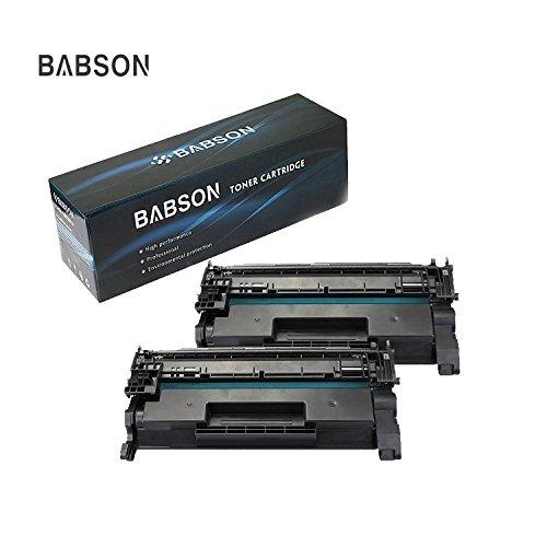 BABSON Replacement for HP 26A CF226A Toner Cartridge (3100 Pages) High Yield Premium Black Toner Cartridge use for HP LaserJet Pro M402dn M402n M402dw MFP M426dw M426fdw M426fdn Printer ,2 (Blue Hewlett Packard Printer Cartridge)