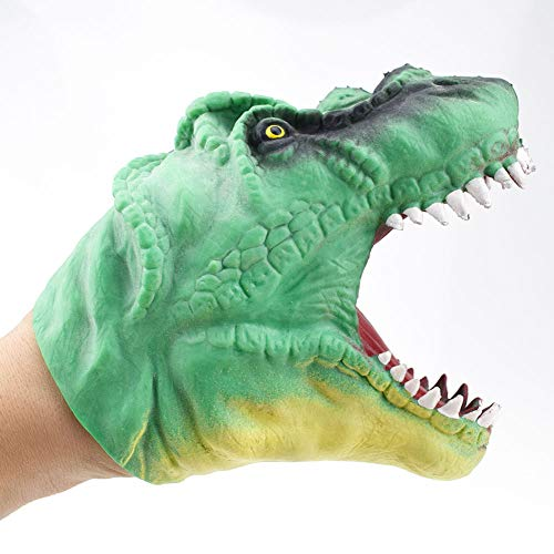 (Leoie Medium Soft Simulation Dinosaur Hand Puppet Toy Story Telling Prop Green)
