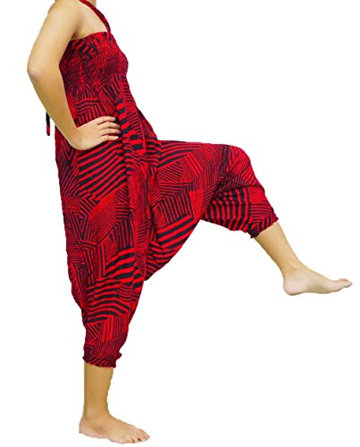 Loong Cha's Unisex 2 Type Harem Jumpsuit - Unisex Short Length Drawstring Pants Shopping Results
