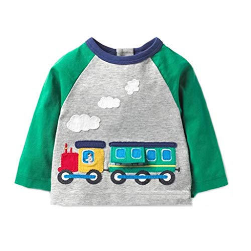 Boys Girls Long Sleeved Cartoon Car Print Blouse Clothes (0-7T) ()