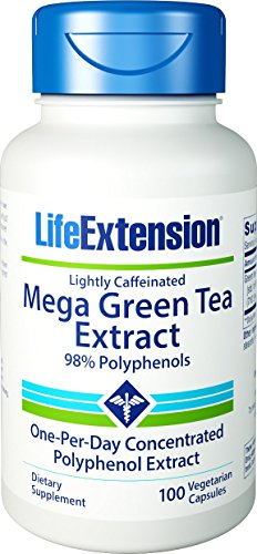 Nutri Green Tea Tea - Life Extension Mega Green Tea Extract (Lightly Caffeinated) 98% Polyphenols, 100 Vegetarian Capsules