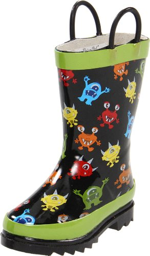 Western Chief Monster Party Rain Boot (Toddler/Little Kid),Green,10 M US Toddler