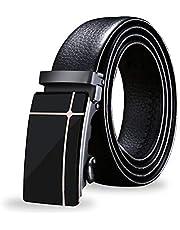 Vedicci Cinturon para hombre de piel sintética/vegana con sistema de cierre automático. Cinturones hombre para uso casual y formal. Cinturon para caballero. Belt Men Tezius