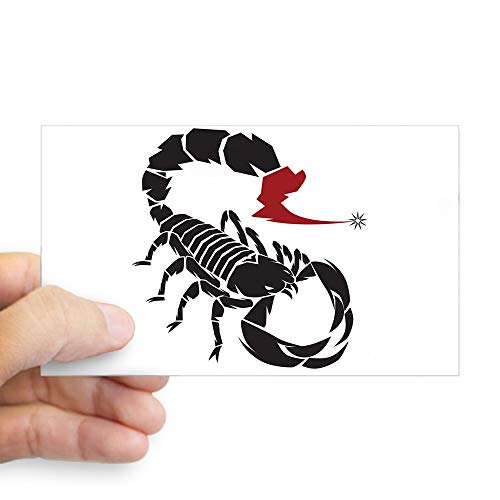 (Sticker (Rectangle) Large Tribal Scorpion)