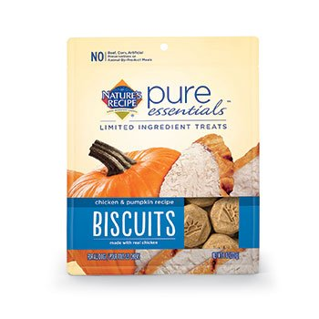Nature's Recipe Pure Essentials Biscuits - Chicken & Pumpkin - Regular - 8oz