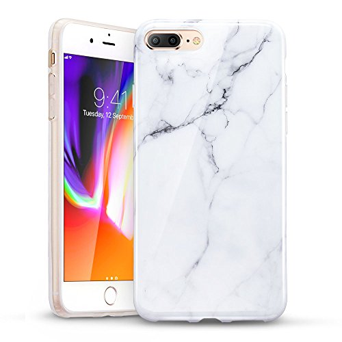- ESR iPhone 8 Plus Case, iPhone 8 Plus Marble Case,Slim Fit Soft TPU Rubber Silicone Cover for 5.5