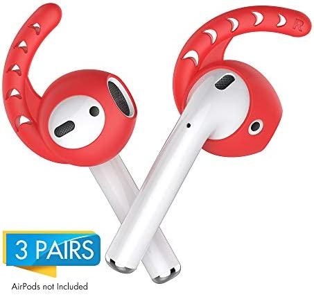 Ultra Superior Grip Earhooks /& Increased Comfort Tips HM Airpods Cover Perfect Silicon Hooks for Your Strange Alien Ear - Best Original Accessories for Apple Air Pods 3 Pairs