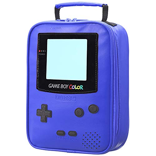 Kids Lunch Bags,Insulated Leather GAME BOY Lunch Tote Reusable Waterproof Thermal Cooler Small Picnic Bag Lunch Box for Boys Girls Teens Kids Women Men (Cobalt Blue)