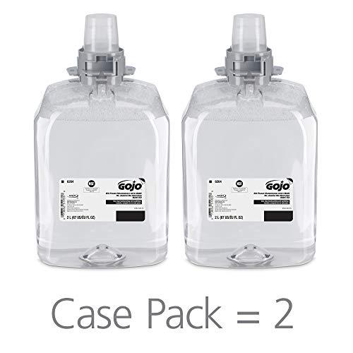 GOJO E2 Foam Handwash with BAK, Fragrance Free, 2000 mL Soap Refill for GOJO FMX-20 Push-Style Dispenser (Pack of 2) - 6264-02