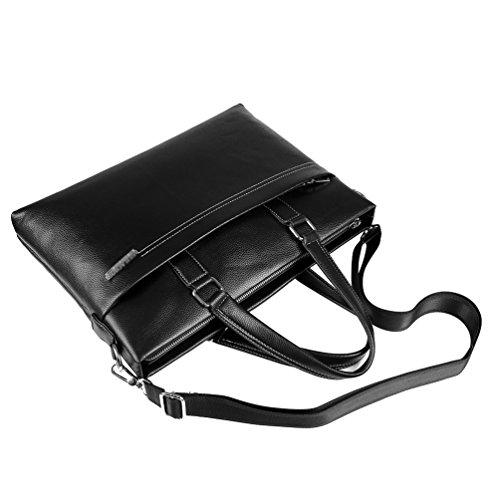 Vbiger Messenger Tracolla Borsa Bag Pu Pelle Per Uomo In Nero TOxC6T