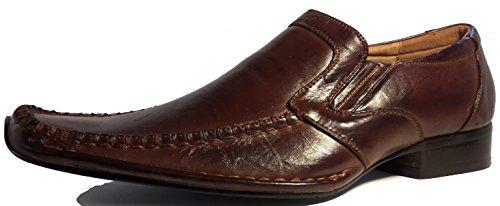 3-W-Hohenlimburg Men's Classic Lace-Up Half Shoe Brown