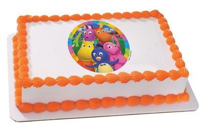 Backyardigans Cake Decorating (Backyardigans Edible Image Cake Topper)