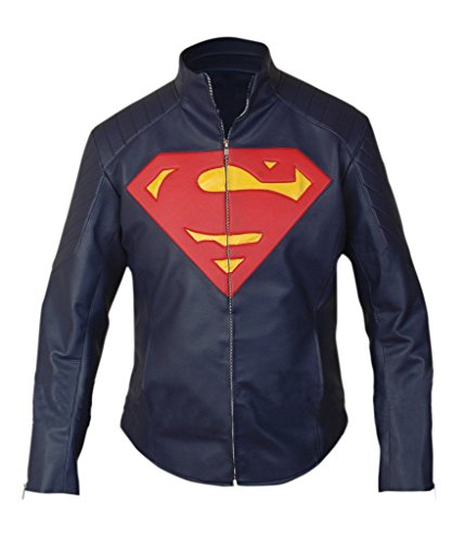 Tom Welling Superman Costume (F&H Men's Superman Jacket 3XL Dark Blue)