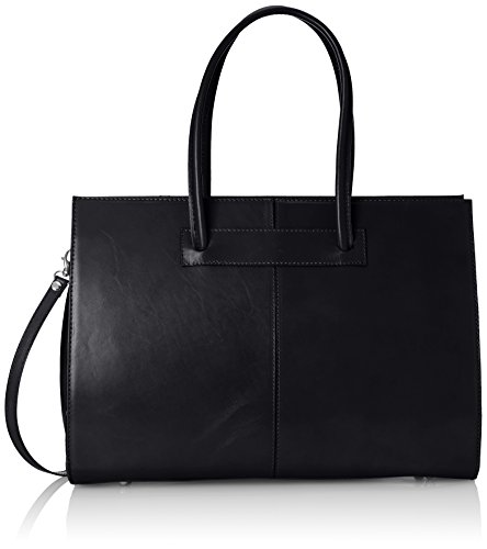 porte main in Femme Nero à Italy cuir véritable sac 100 Made documents dossier Noir FIFBATq