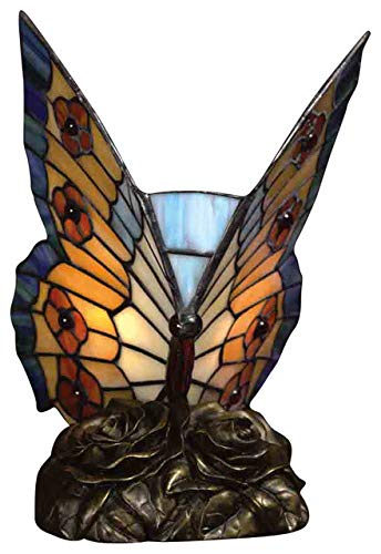 Quoizel TF6599R Tiffany Butterfly Lamp, 1-Light, 7 Watt, Architectural Bronze (9