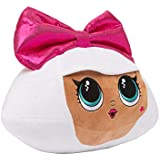 L.O.L. Surprise! Diva Character Soft Plush Cuddle Pillow, White/Pink