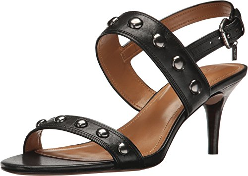Coach Womens Mandy Open Toe Casual Strappy Sandals, Black, Size 6.0 ()