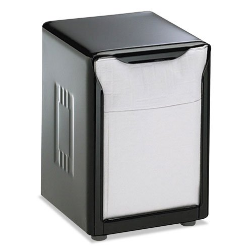 (San Jamar Tabletop Napkin Dispenser, Low Fold, 3-3/4 x 4 x 5-1/2, Capacity: 150, Black - Includes one napkin dispenser.)