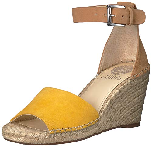 Vince Camuto Women's Leera Espadrille Wedge Sandal, Yellow, 5 Medium US from Vince Camuto
