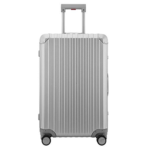 Hardside luggage, Aluminum hard shell with spinner wheel TSA (Carbon Fiber Silver, 20 -