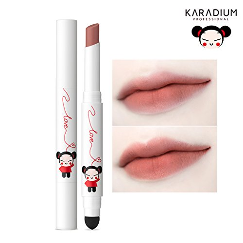 [KARADIUM] PUCCA LOVE EDITION Smudging Velvet Matte Long Lasting Lip Tint Stick 1.4g - 6 Colors (#06 BROWN RED)